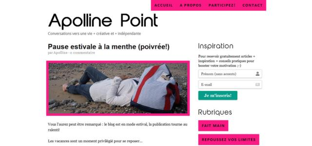 Interview Apolline Point