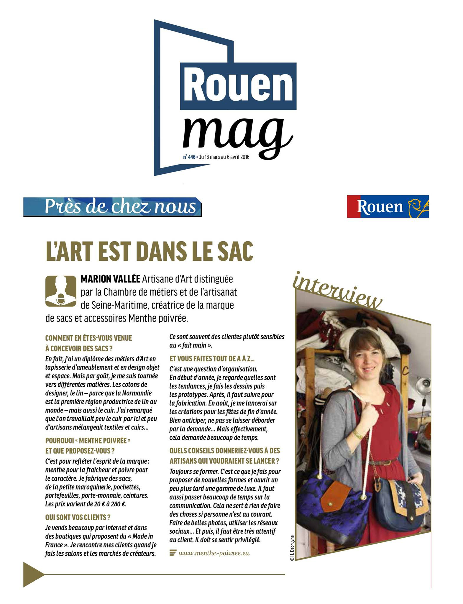 Interview Rouen Magazine