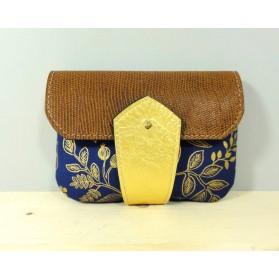 Porte monnaie - Bleu et or