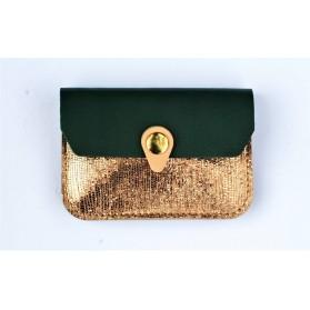 Porte monnaie Zanzibar Cuivre vert emeraude rose