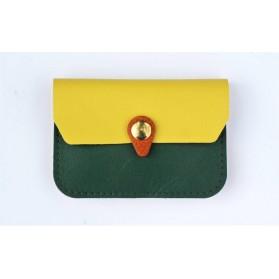 Porte monnaie Zanzibar vert emeraude, jaune camel